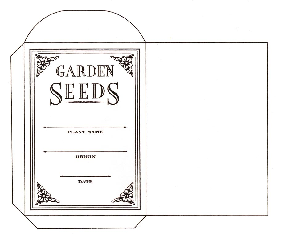 blank seed packet template - Coloring Packets